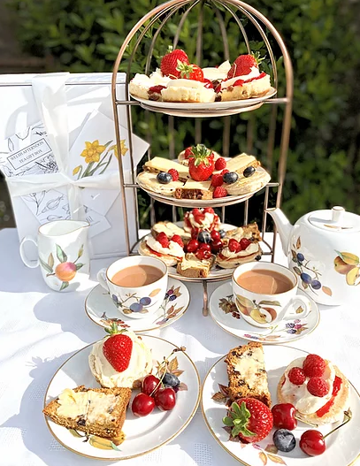 afternoon tea delivery - Daffodil Foods Deluxe Welsh Afternoon Tea