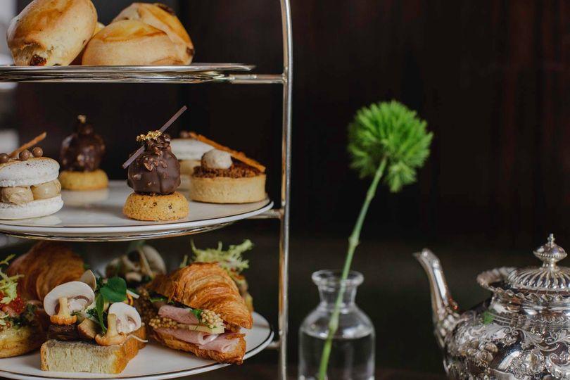 afternoon tea London - Berners Tavern