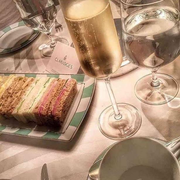afternoon tea London - Claridges