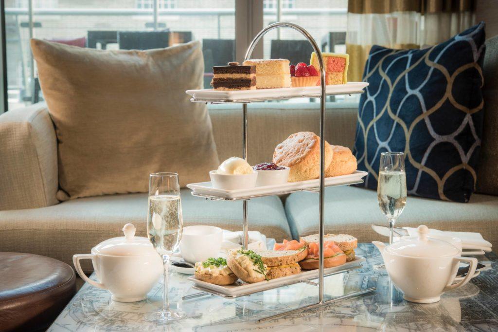 afternoon tea London - Marriott Canary Wharf