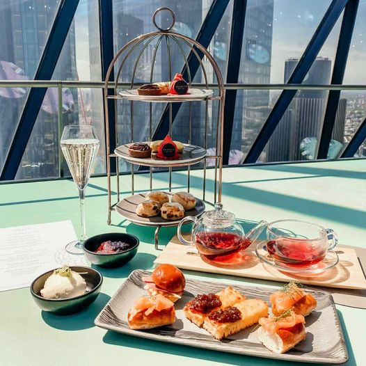 afternoon tea London - Searcys at the Gherkin