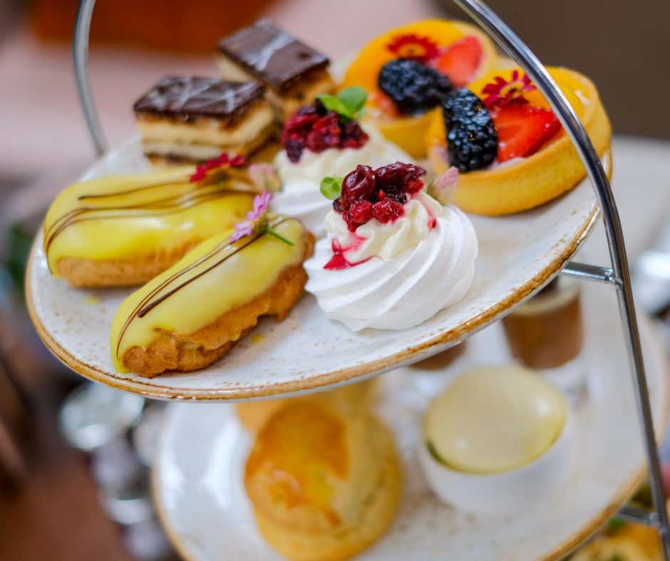 afternoon tea chester - palm court at the Grosvenor Pulford Hotel & Spa
